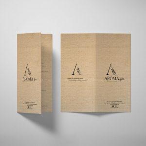 Ulotka projekt, wydruk, papier ekologiczny, salon urody