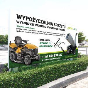 Reklama zewnętrzna, billboard, projekt, wydruk